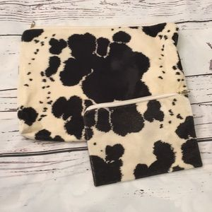 Cowprint accessory bag set